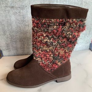 TOMS Serra brown suede slouch boots 7.5